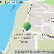 Kartta Åbo Akademi Fortbildningscentralen Turku, Suomi