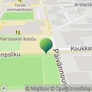 Kartta Turun kaupunki Varissuon koulu Turku, Suomi