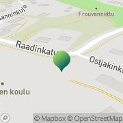 Kartta Turun kaupunki Lausteen koulu Turku, Suomi
