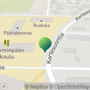 Kartta Tampereen kaupunki Lamminpään koulu Tampere, Suomi
