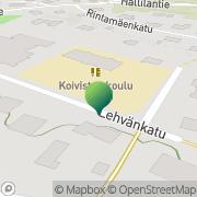 Kartta Tampereen kaupunki Koiviston koulu Tampere, Suomi