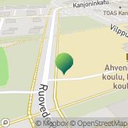 Kartta Tampereen kaupunki Kanjonin koulu Tampere, Suomi