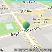 Kartta Hämeenlinnan kaupunki Hämeenlinnan lyseon lukio Hämeenlinna, Suomi