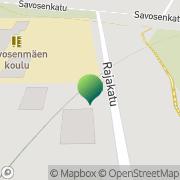 Kartta Mänttä-Vilppulan kaupunki Savosenmäen koulu Mänttä, Suomi