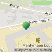Kartta Kauniaisten kaupunki Mäntymäen koulu Kauniainen, Suomi