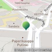 Kartta Helsingin kaupunki Högstadieskola Lönkan Helsinki, Suomi