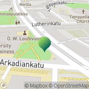 Kartta Helsingin Kauppakorkeakoulu (HSE) Ura- ja rekrytointipalvelut Helsinki, Suomi