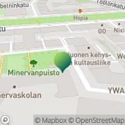 Kartta Helsingin kaupunki Minervaskolan Helsinki, Suomi