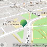 Kartta Helsingin kaupunki Cygnaeus lågstadieskola Helsinki, Suomi
