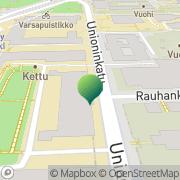 Kartta Helsingin yliopisto Kristiina-instituutti Helsinki, Suomi