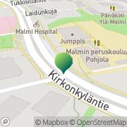 Kartta Helsingin kaupunki Malmin ala-aste Helsinki, Suomi