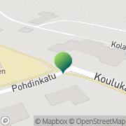 Kartta Haapajärven kaupunki Martinmäen koulu Haapajärvi, Suomi