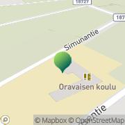 Kartta Haukiputaan kunta Oravan koulu Kello, Suomi