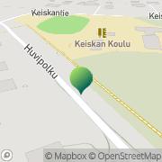 Kartta Haukiputaan kunta Keiskan koulu Haukipudas, Suomi