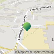 Kartta Oulun kaupunki Lämsänjärven koulu Oulu, Suomi