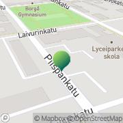 Kartta Porvoon kaupunki Lyceiparkens skola Porvoo, Suomi