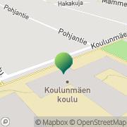 Kartta Äänekosken kaupunki Koulunmäen koulu Äänekoski, Suomi