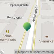 Kartta Äänekosken kaupunki Asemakadun koulu Äänekoski, Suomi