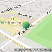 Kartta Kouvolan kaupunki Saviniemen koulu Kouvola, Suomi