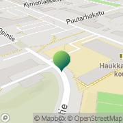 Kartta Kotkan kaupunki Haukkavuoren koulu Kotka, Suomi