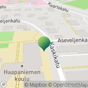 Kartta Kuopion kaupunki Haapaniemen koulu Kuopio, Suomi