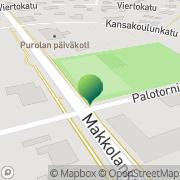 Kartta Kajaanin kaupunki Purolan koulu Kajaani, Suomi