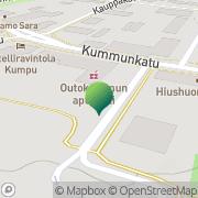 Kartta Outokummun kaupunki Keskustan koulu Outokumpu, Suomi