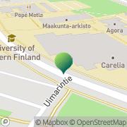 Kartta Joensuun yliopisto teologinen tiedekunta Joensuu, Suomi