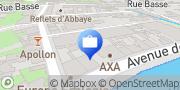 Carte de AXA Assurance BUGEAU-CANIVET Caen, France