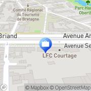 Carte de Axa Lemaine et Tual Agts Generaux Rennes, France