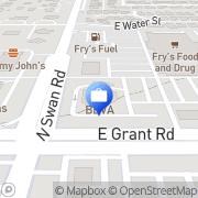 Map BBVA Compass Tucson, United States