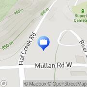 Map Mullan Trail Bank Superior, United States