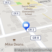 Map National Bank Bourget, Canada