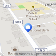 Map Banque Nationale du Canada Bourget, Canada