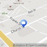 Map Stephens Federal Bank Hiawassee, United States