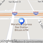 Map Bitcoin of America - Bitcoin ATM Broadview, United States