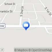 Map Fisher National Bank - ATM Fisher, United States
