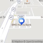 Map BMO Harris Bank Huntley, United States