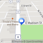 Map Ace America's Cash Express Crandon, United States