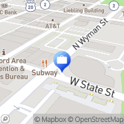 Map Rockford Bank and Trust Rockford, United States
