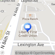 Map Liberty First Credit Union Lincoln, United States
