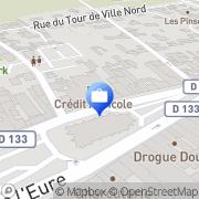 Carte de CAISSE REGIONALE DU CREDIT AGRICOLE MUTUEL DE L'EURE (CRCA) Le Neubourg, France