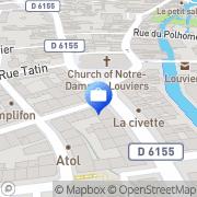 Carte de SOCIETE GENERALE (SG) Louviers, France