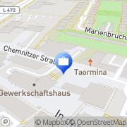 Karte HUK-COBURG Versicherung Harald Warnecke in Salzgitter - Lebenstedt Salzgitter, Deutschland
