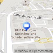 Karte HUK-COBURG Versicherung - Geschäftsstelle Coburg Coburg, Deutschland