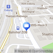 Karte Verlag Coburg, Deutschland