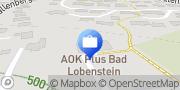 Karte AOK PLUS - Filiale Bad Lobenstein Moorbad Lobenstein, Deutschland
