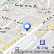 Karte VR-Bank Erding, Deutschland