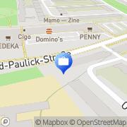 Karte Deutsche Bank , Investement & FinanzCenter Halle, Deutschland