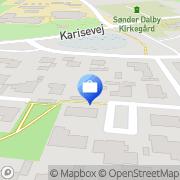 Kort LMO-Regnskabsservice Haslev, Danmark
